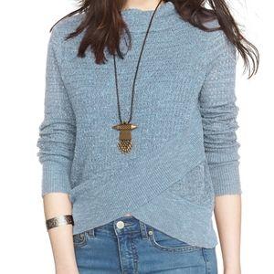 Free People Boho Wrapped Mock Neck Sweater Size XL